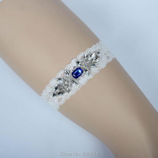 Luxury Crystal Applique Lace Wedding Garter Bride Leg Garter Belt Handmade  HY061 4423a1997b86