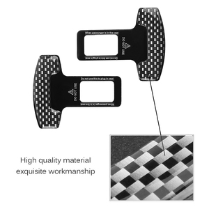 Image 5 - 2PC Universal Carbon Fiber Car Safety Seat Belt Buckle Alarm Stopper Clip Clamp Auto Interior Accessories