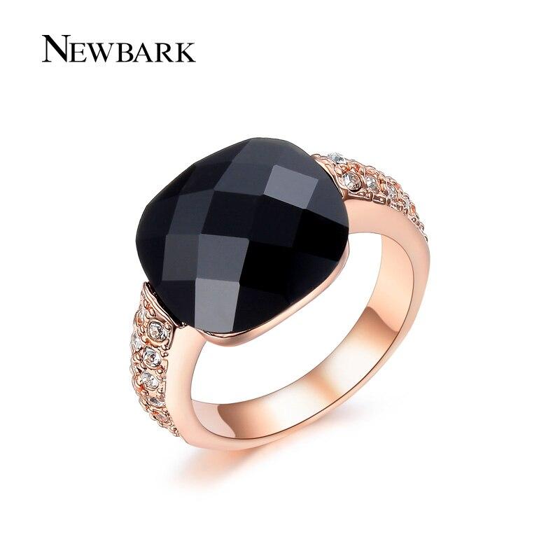 newbark black crystal stone women rings punk ring for man. Black Bedroom Furniture Sets. Home Design Ideas