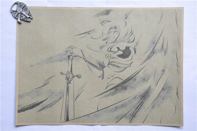 Vintage Lol League Of Legends Game Hero Kayle Sketch Painting Poster