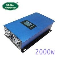 2000 Вт солнечных панелей Батарея на сетке галстук ограничитель инвертора для дома PV Системы подключен DC 45 90VDC AC 220 В 230 В 240 В синусоида