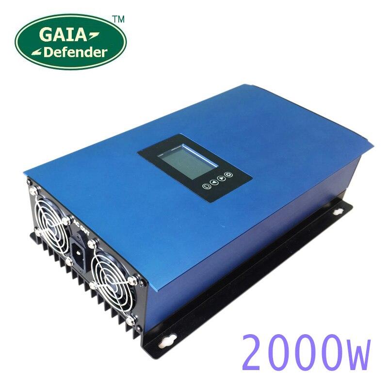 2000 w Pannelli Solari Limitatore di Batteria sul Legame di Griglia Inverter per la Casa PV Sistema collegato DC 45-90VDC AC 220 v 230 v 240 v onda sinusoidale