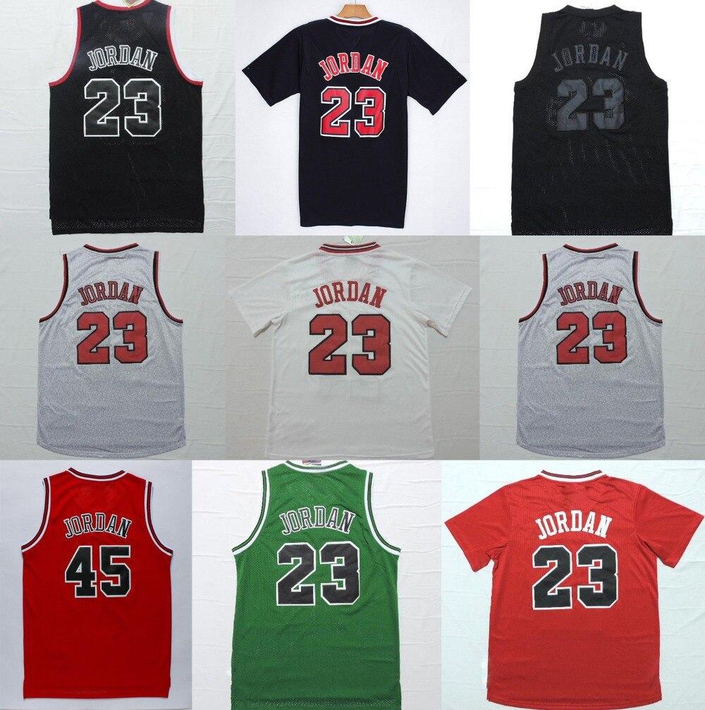 big sale 0ae8d d616c 23 #45 Michael Jordan Jersey Red White Green Black Stitched ...