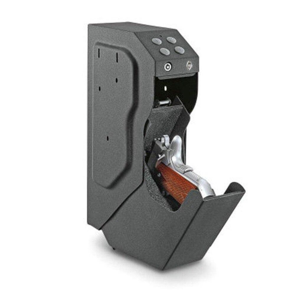 Пистолет Сейф Пистолеты пароль Сейф Металлический корпус цифровой код сейфы с ключ безопасности Высокое качество Сталь Strongbox
