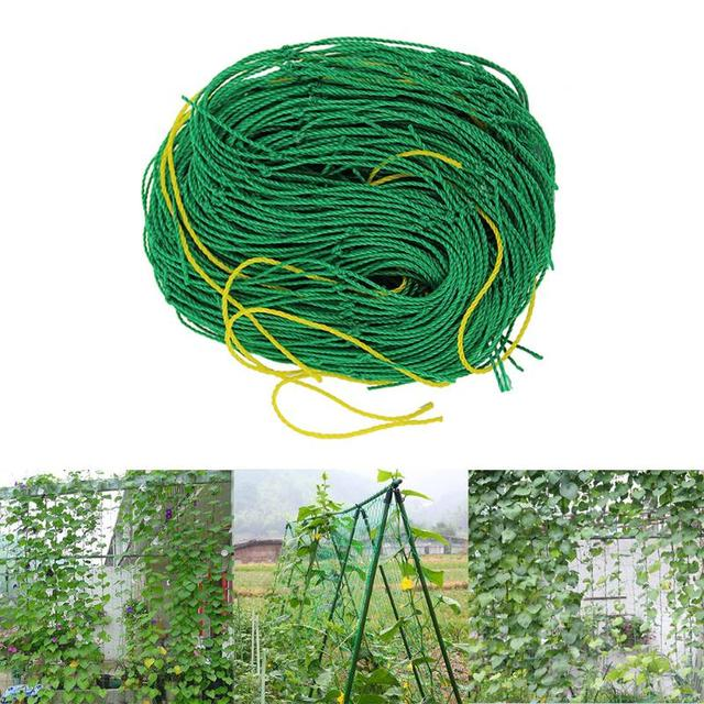 1.8 x 2.7m Nylon Flower Plant Fruit Climbing Frame Garden Fence Net Vegetable Plant Trellis Net Durable Plant Climb Pot Trays