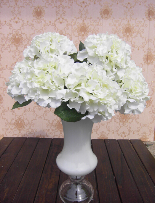 5 Big Heads Silk Artificial Fake Flower Bouquet Floral Hydrangea Wedding Party Decor Flores Artificiales in Artificial Dried Flowers from Home Garden