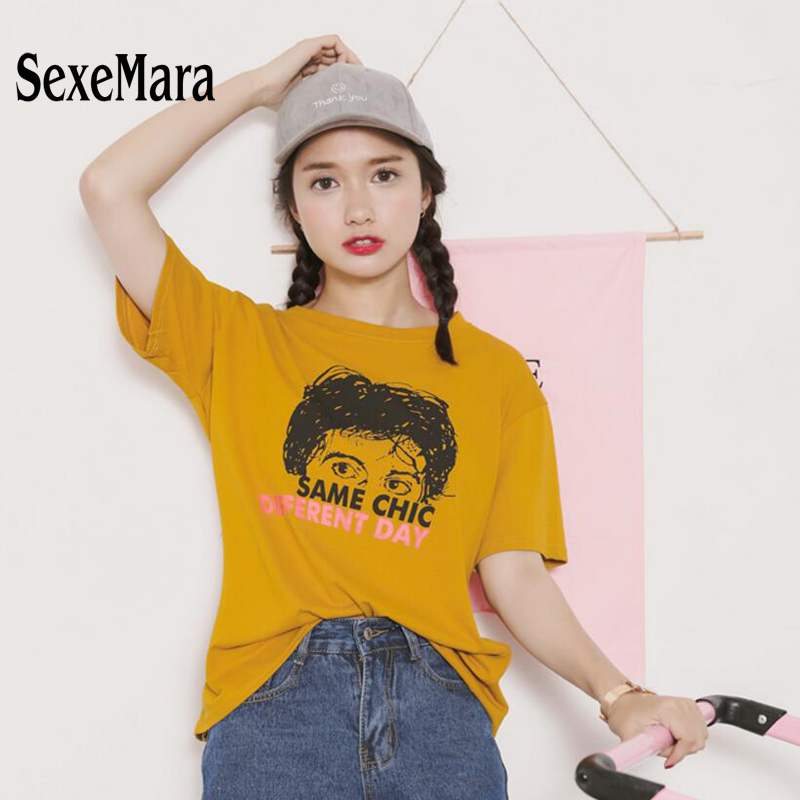 funny t shirts punk fashion t shirts korean style Hipster top women summer  tops 2017 harajuku shirt couple clothes top femme