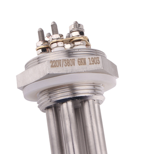 "Image 5 - 220 v/380 v 6KW DN32 (1 1/4 "") 나사 SUS304 가열 파이프 교체 전기 가열 저항 Immerison 온수기 요소"
