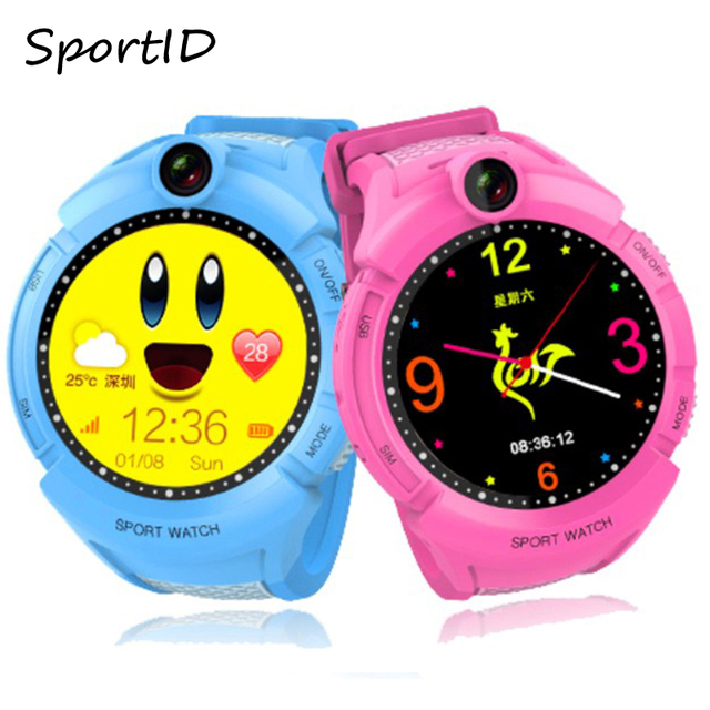 Kids Smart Watches with Camera GPS Location Child Smartwatch SOS Anti-Lost Monit