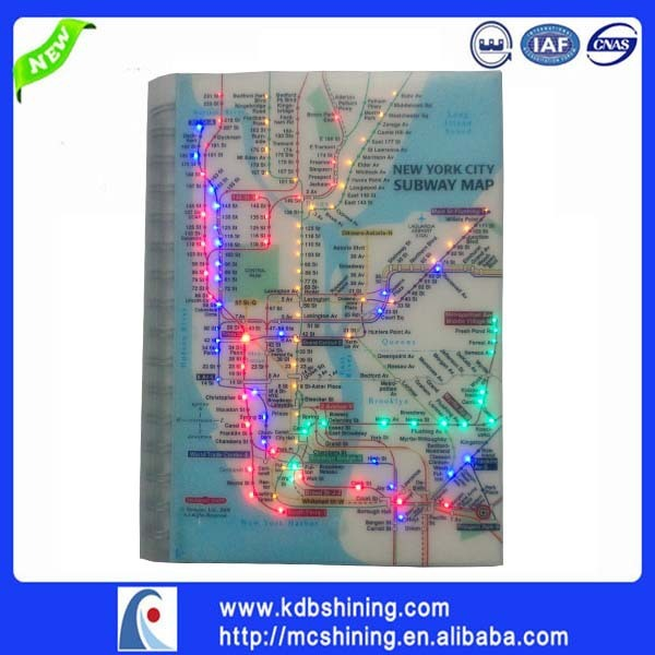 Creative Subway Map.Us 7 0 Hot Sale Creative Gifts School Supplies Led Light Up Writing Notebook With New York City Subway Map In Notebooks From Office School