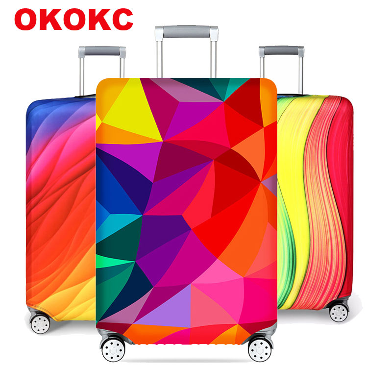 OKOKC Luggage Protective Cover Men's Women's Elastic Suitcase Travel Case Famale Trolley Dust Bags Accessories
