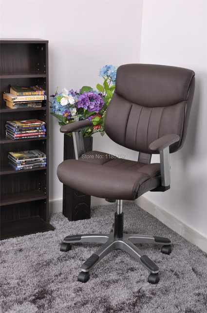 Astonishing Us 279 98 Brand New High Quality Pu Leather Metal Foam Lift Chair Brown Office Chair Computer Chair With Arms 360 Degree Swivel Chair On Creativecarmelina Interior Chair Design Creativecarmelinacom