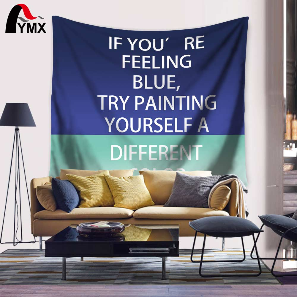 Wandteppich Modern Wholesale Famous Aphorism Tapestry 150 130 200cm Wall Hanging