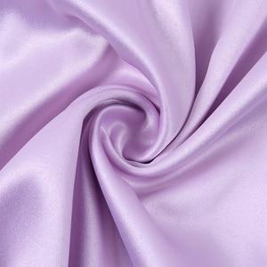 Image 5 - WannaThis Spaghetti Straps V Neck Silk Satin High Waist Dress 2019 Summer Backless Elegant Sexy Casual Party Club Dresses