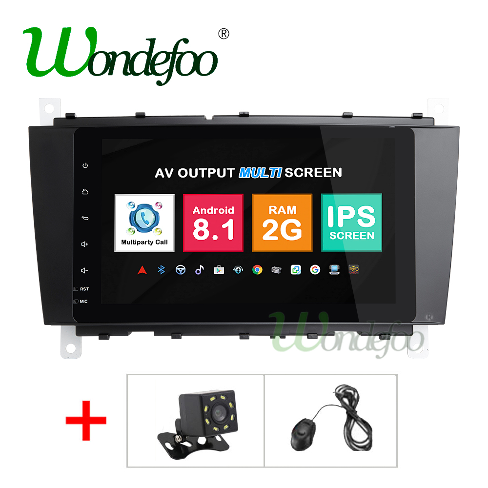 IPS Android 8 1 2G 4 Core 2 Din dvd player for Mercedes Benz C Class