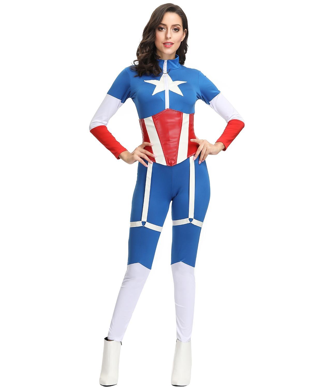 Captain Marvel Adult Superhero Costume Marvel Innovatis Suisse Ch Captain marvel suit carol danvers cosplay costume sources: innovatis suisse ag