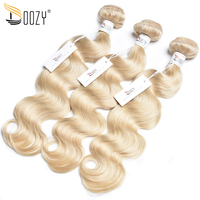 Doozy Color 613 Russian Blonde 3 Pieces Remy Body Wave Brazilian Human Hair Bundles