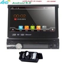"""Android 6.0 HD7 """"Universal 1 Din Reproductor de DVD Audio Del Coche + Radio + Gps + + Autorradio Estéreo + Bluetooth + PC + DVD RDS Aux USB + cámara"""