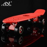 Ups/DHL 22 Inch Penny Board DIY Afdrukken Retro Vis Skateboard Met LED Licht Kids ABEC-9 Enkele Rocker 72mm Wiel