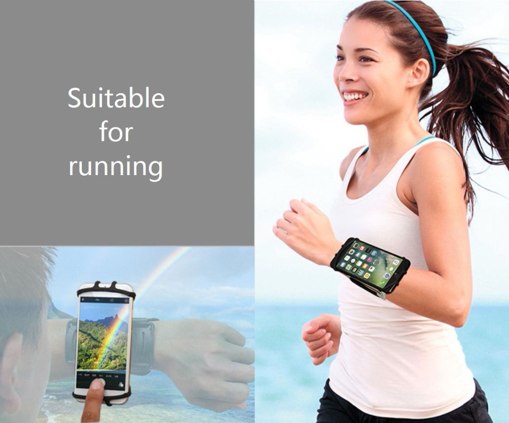 SzBlaZe Professional Rotatable Running Bag Wrist Band Arm cell phones Holder Sport pocket accessories For Gym Fitness Jogging 9