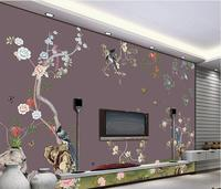 customized wallpaper for walls Fine flowers and birds classic wallpaper for walls Home Decoration