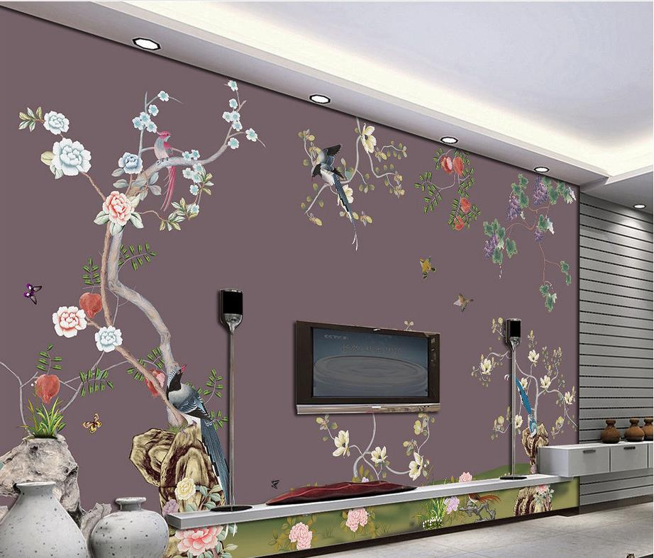 customized wallpaper for walls Fine flowers and birds classic wallpaper for walls Home Decoration the hermitage birds and flowers