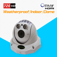 TEATE H.264 IP Camera 720P 1.0MP HD Wired Dome IP Camera Array IR LED Indoor ONVIF and RTSP IR Night Vision Micro SD Slot