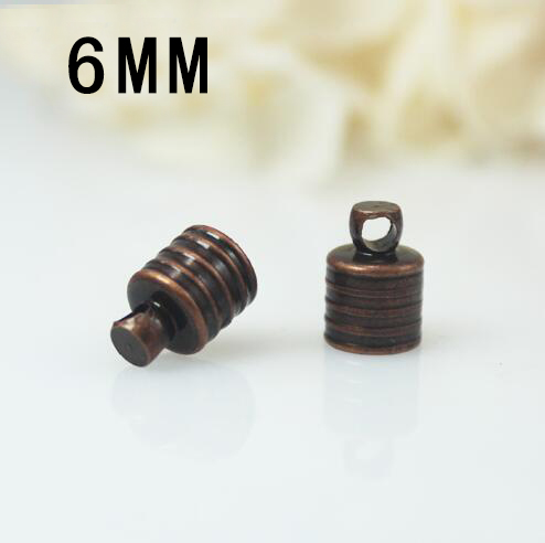 25PCS 6MM METAL CAPS BRASS-PLATED,FOR 6MM GLASS VIALS