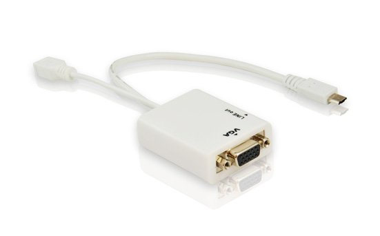 Free Shipping Micro usb 11pin to VGA With Audio MHL Adapter For Samsung S3 MHL06