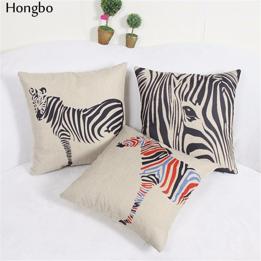 online get cheap geometric pillows aliexpresscom  alibaba group - hongbo zebra cushion cover black and white stripe pillowcase minimaliststyle geometric pillow covers bedroom sofa