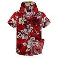 cotton linen blended floral shirt hawaiian shirt aloha shirt for boy T1530