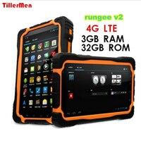 원래 4 그램 LTE Rungee V2 태블릿 PC 3 기가바이트 RAM + 32 기가바이트 ROM 7 인치 휴대 PhoneQuad 코어 비트 IP68 방수 내진성 13MP 9650 미리암페르하우어