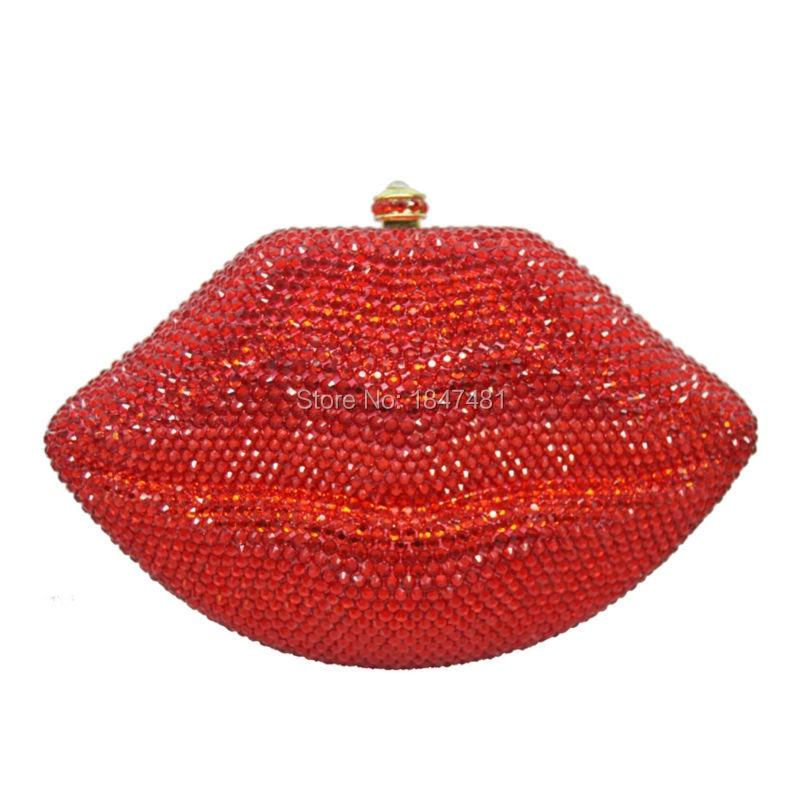 Patter LaiSC tachonada de Diamantes Embrague Bolsa De Fiesta De Cristal Vestido