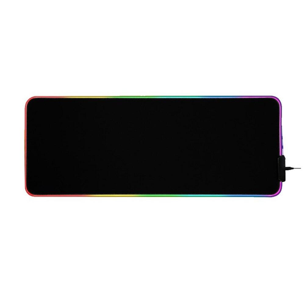 Tapis de souris de jeu souple rvb grand LED lumineuse tapis de souris étendu Base en caoutchouc antidérapant tapis de clavier d'ordinateur offre spéciale