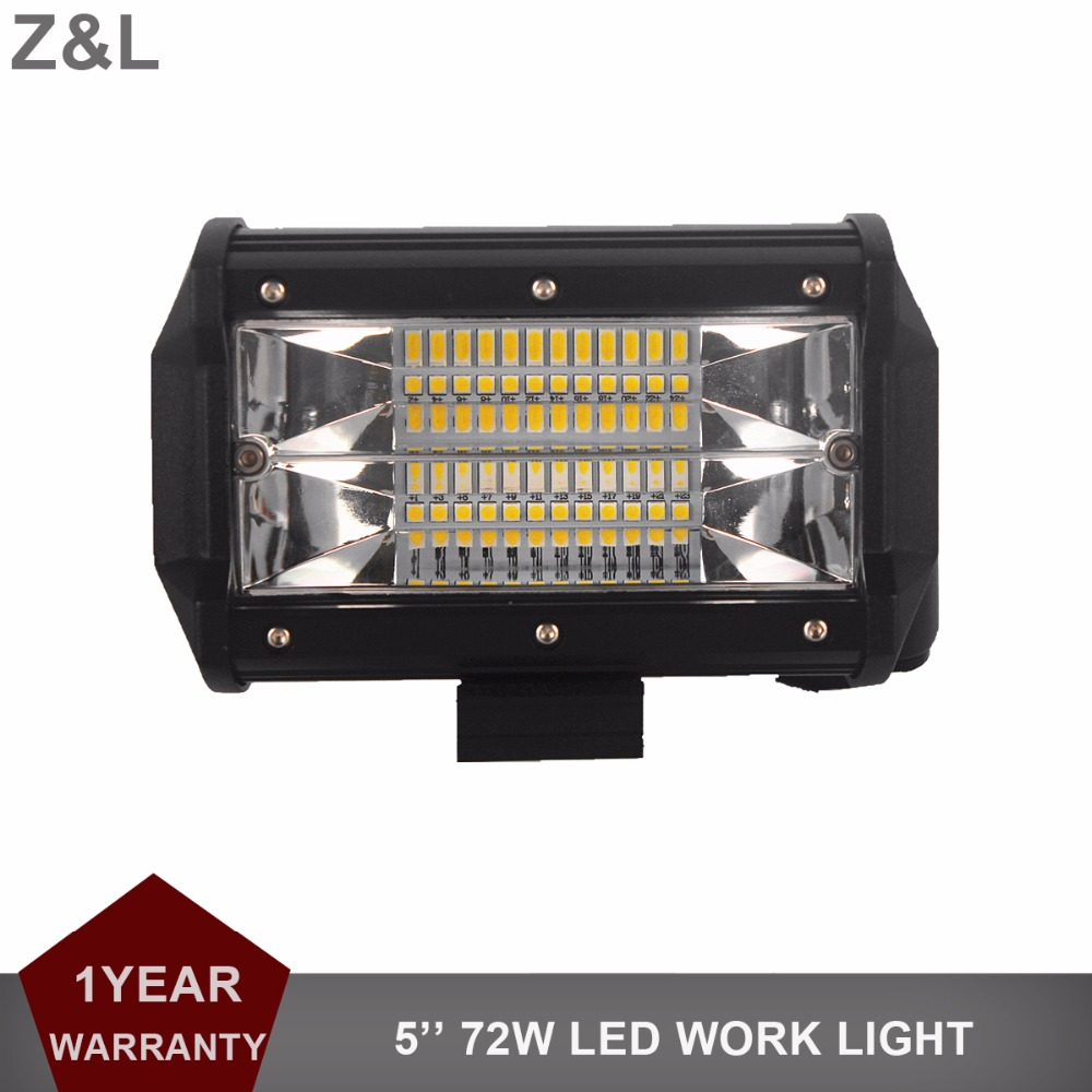 5 LED WORK LIGHT BAR OFFROAD 72W FLOOD CAR SUV ATV UTE RZR MOTORCYCLE BOAT TRUCK 4X4 4WD DRL DRIVING LAMP 12V 24V HEADLIGHT
