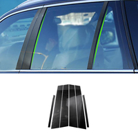 For BMW 3 5 Series E90 E60 F30 F10 X5 X6 E70 E71 F15 F16 F07 X3 F25 E46 X1 E84 Carbon Fiber Window B pillar Molding Cover Trim