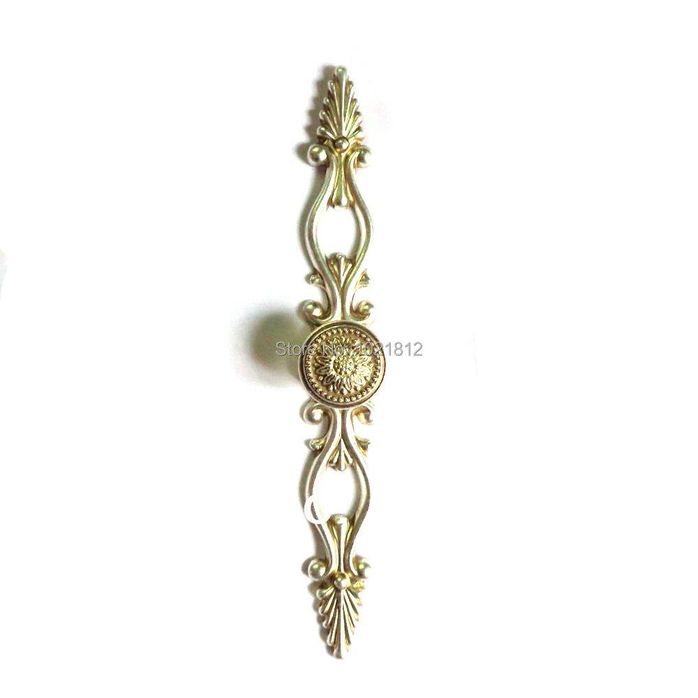 CAMAL 10pcs Style Europ/éen Meubles en C/éramique en Bronze Boutons de Porte Tiroir Poign/ées 32mm Poign/ées de meuble Fleur Bleue