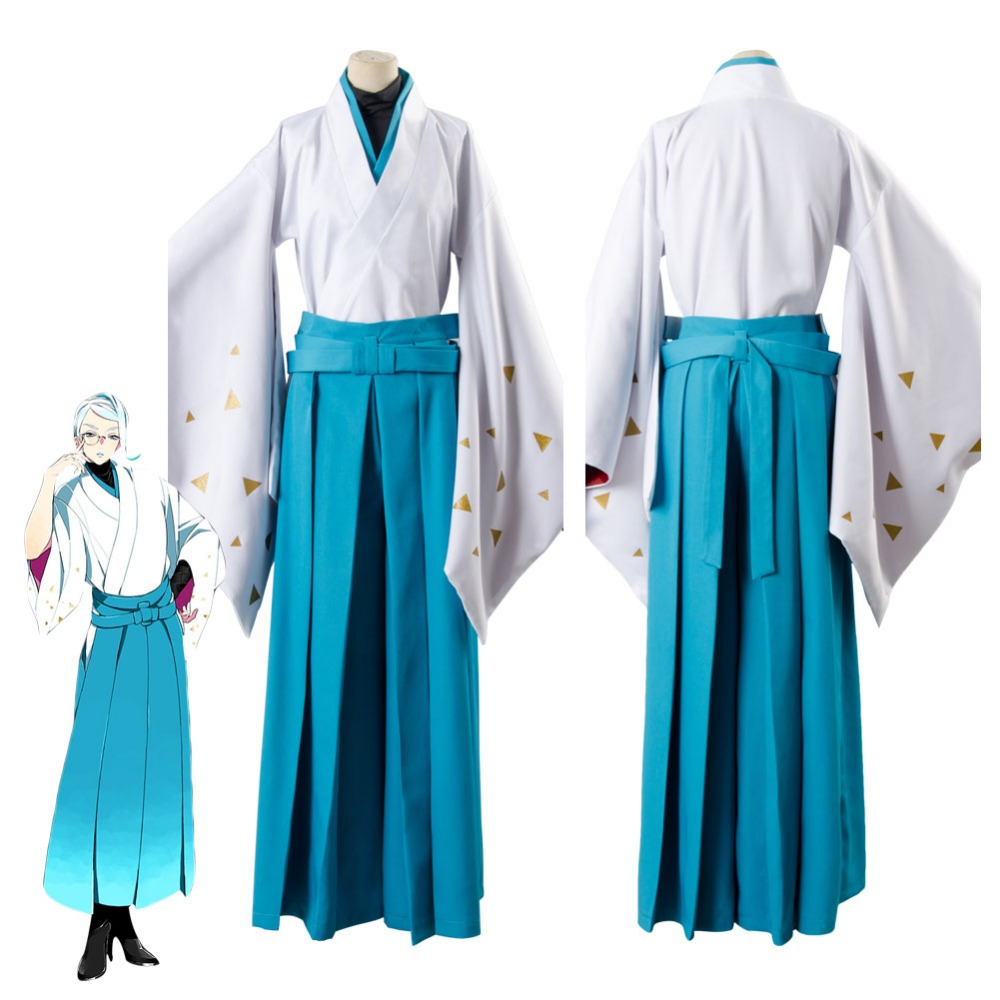 2017 New Touken Ranbu Tomoegata Naginata Kimono Cosplay Costume