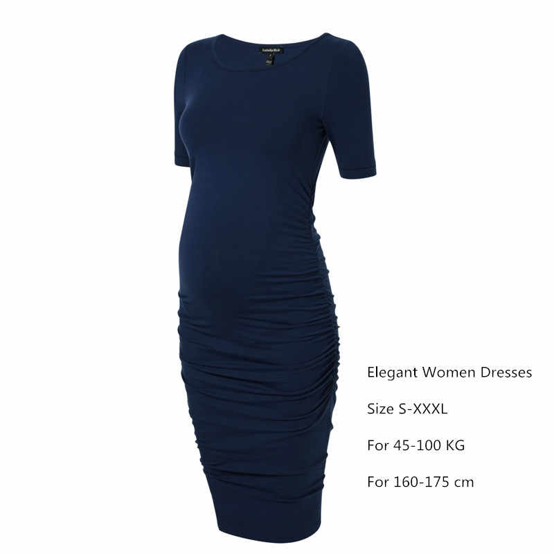 679dc7c033a13 ... Summer Maternity Dress Pregnancy Clothes for Pregnant Women Knee-Length  Office Lady Elegant Business Dress ...
