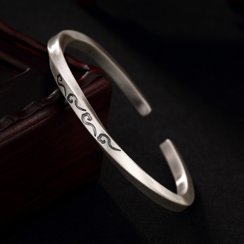 Silver Coin, Character, Mobius Ring, Auspicious Cloud, Sterling Silver, Ladies