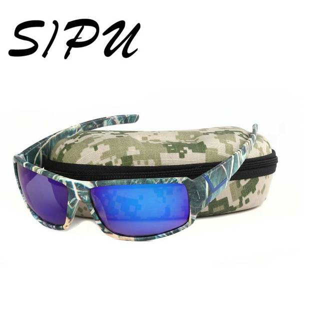 6a04e1832f5 Top Quality Sport Sunglasses Men Camouflage Frame Sports outdoor fishing  TAC Polarized Eyewear for Male with 4 Accessories