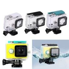Камера Чехол Подводные 45 м Водонепроницаемый защитный Корпус чехол Прозрачный ударопрочный Дайвинг коробке для Xiaomi Yi 1 Спортивные Камера