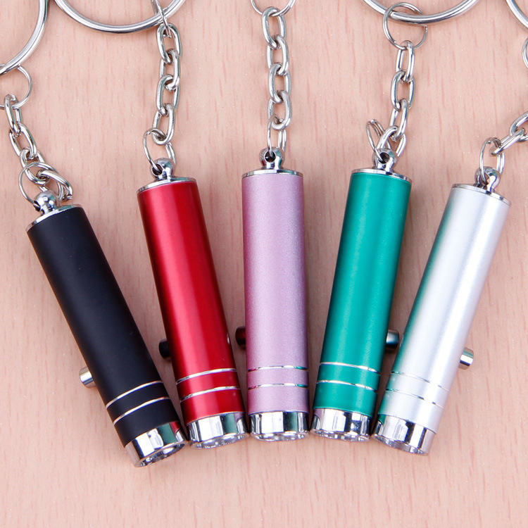 Mini Aluminum UV Flashlight LED Ultra Violet Light Torch Keychain Pocket PenLight Lamp With Battery For Marker Checker Detection
