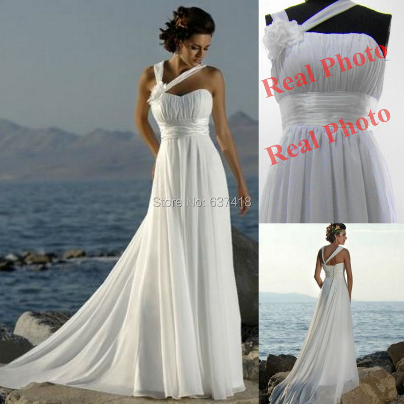 Vestidos de noiva white ivory champange cheap wedding Inexpensive beach wedding dresses