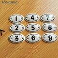 9 pcs Número De Cerâmica Puxadores de Gaveta Do Armário Da Cozinha de Porcelana Crianças Closet Armário Roupeiro Dresser Puxadores Móveis Puxa