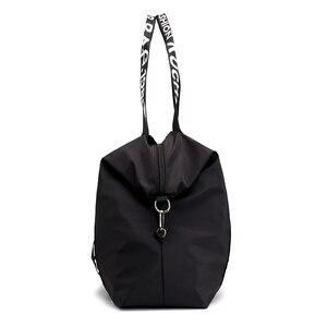 Image 5 - 2020 New bag Woman Travel Bag Black Pink Sequined Shoulder Bag Women Ladies Weekend Portable Travel Waterproof big Bag