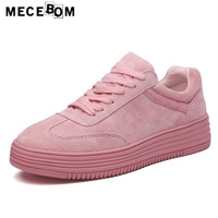 Women S Leather Shoes Hot Sale Fashion All Pink Shoes For Lady Lace Up Flats Platform