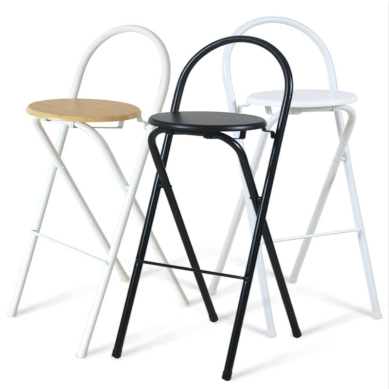 Folding chair bar high chair stool home backrest chair ...