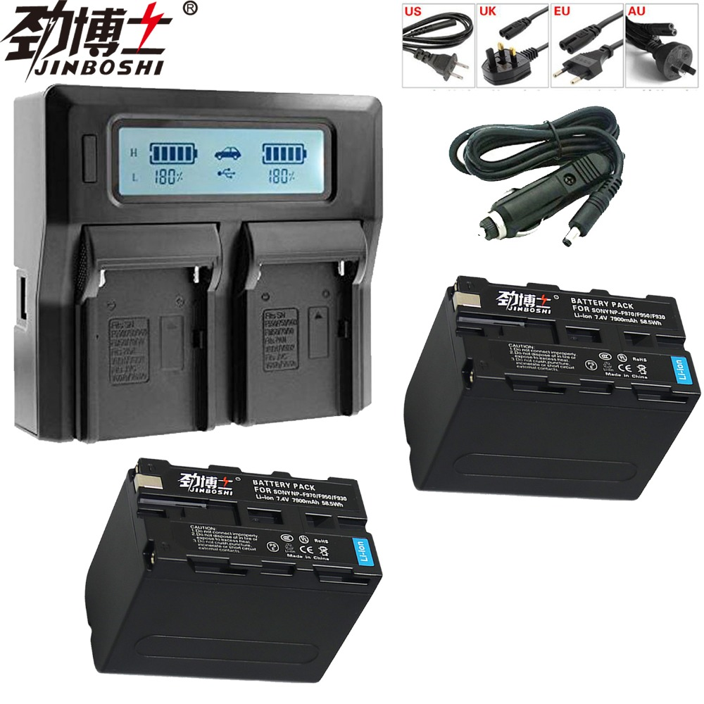 Hot sale 2Pcs 7900mAh NP-F970 NP F970 NP-F960 NP-F950 Battery+ LCD faster Dual Charger for SONY F930 F950 F770 F570 CCD-RV100Hot sale 2Pcs 7900mAh NP-F970 NP F970 NP-F960 NP-F950 Battery+ LCD faster Dual Charger for SONY F930 F950 F770 F570 CCD-RV100