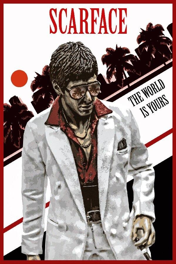 DIY rahmen Scarface Al Pacino Mit Gun Klassische Verbrechen Film ...